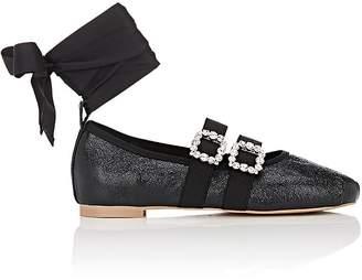 Helena & Kristie Women's Rachel Buckle-Strap Leather Flats