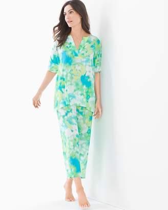 Natori N by Watercolor Pajama Set Blue Sky