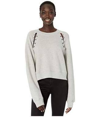 The Kooples Sweatshirt with Pin Openings Along Shoulder Line