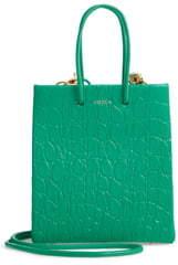 Medea Prima Short Croc Embossed Calfskin Leather Bag