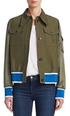 NO. 21 Satin Sport Jacket