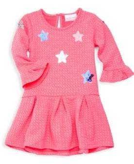 Little Girl's Textured Sequin Flare Dress