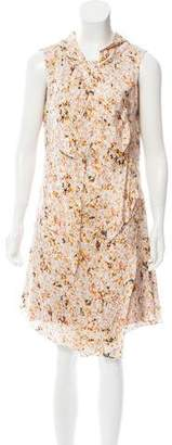Nina Ricci Sleeveless Floral Print Dress