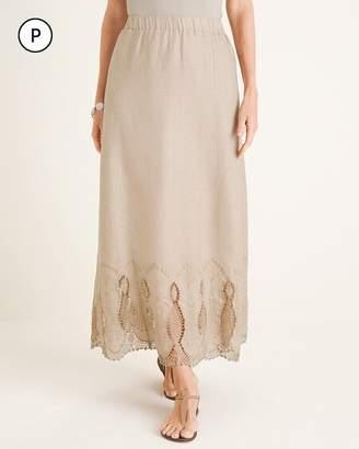 74f1bb85b4 Chico's Chicos Petite Linen Skirt