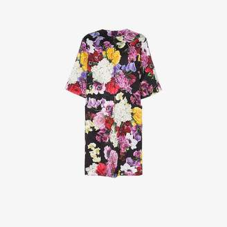 Dolce & Gabbana floral print short sleeved coat
