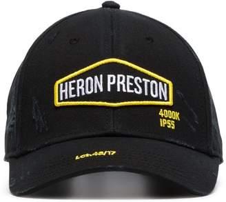Heron Preston black Harley logo-embroidered cotton baseball cap