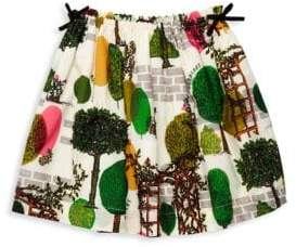 Burberry Little Girl& Girl's Tree Print Skirt