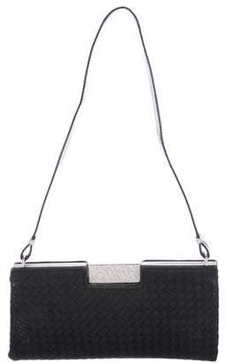 Bottega Veneta Vintage Satin Intrecciato Shoulder Bag