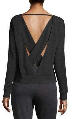 Alo Yoga Uplift Cross-Back Sweatshirt