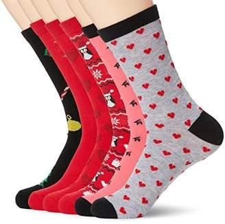 Toes in A Blanket Women's Ladies cotton crew socks 6-pair pack