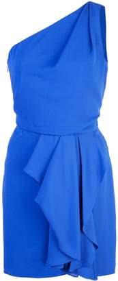 Halston asymmetric mini dress