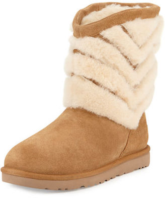 UGG Tania Chevron-Shearling Fur Boot $175 thestylecure.com