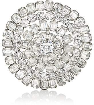 Loren Stazia Women's Diamanté Circular Brooch
