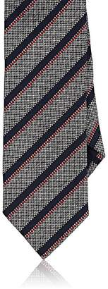 Barneys New York MEN'S STRIPED BASKET-WEAVE SILK-COTTON NECKTIE