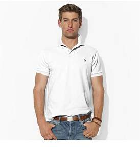 Polo Ralph Lauren Mens Custom Fit Mesh Polo