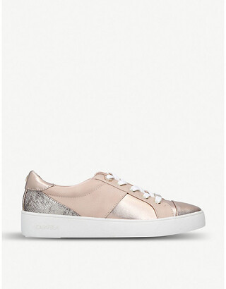 Carvela Jagger snake-embossed trainers