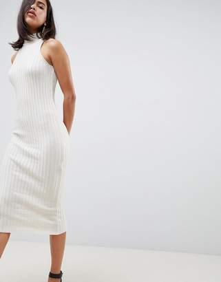 Asos Design DESIGN knitted midi dress in skinny rib
