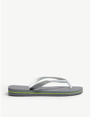 Havaianas Brazil logo rubber flip-flops