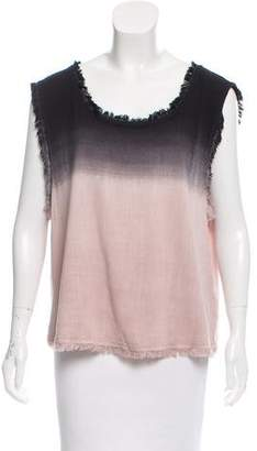 Splendid Gradient Fringe Top