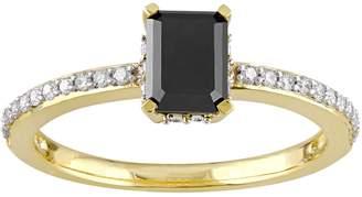 Stella Grace 10k Gold 1 1/5 Carat T.W. Black & White Diamond Engagement Ring