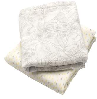 Storksak Set of 2 Muslin Swaddling Cloths