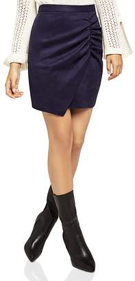 BCBGeneration Asymmetric Faux Suede Skirt