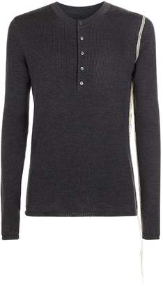 Maison Margiela Henley Unfinished Trim Sweater