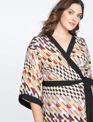 Dropped Shoulder Kimono Dress