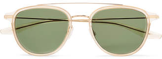 Barton Perreira Courtier D-Frame Acetate and Gold-Tone Titanium Sunglasses - Gold