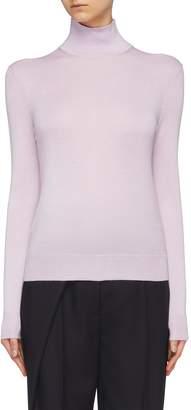 Theory Silk blend turtleneck sweater