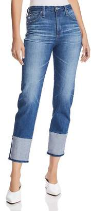 AG Jeans Isabelle Straight Crop Jeans in 15 Years Finite