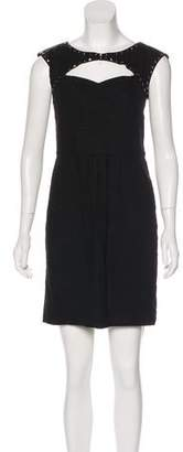 Rebecca Taylor Sleeveless Studded Dress