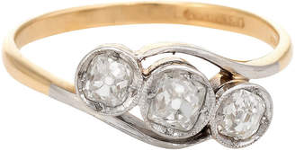 One Kings Lane Vintage Antique Deco Diamond Trilogy Ring - Precious & Rare Pieces