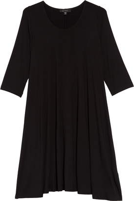 Karen Kane 'Maggie' Three Quarter Sleeve Trapeze Dress