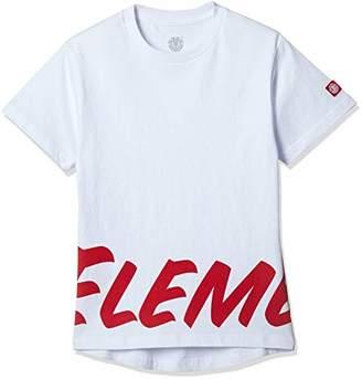 Element (エレメント) - [エレメント] [ キッズ ] 半袖 プリント Tシャツ (USAコットン) [ AI025-320 / Field Round SS TEE ] かわいい 子供服 WHT_ホワイト US 130 (日本サイズ130 相当)