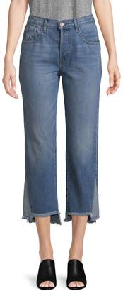 J Brand Wynne High-Rise Cropped Straight Jeans