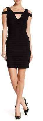 Adrianna Papell V-Neck Banded Bodycon Dress