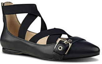 Nine West Leather-Blend Strappy Flats $89 thestylecure.com