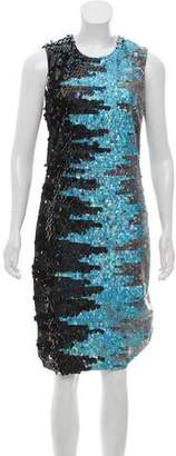 Naeem Khan Sequined Silk Dress