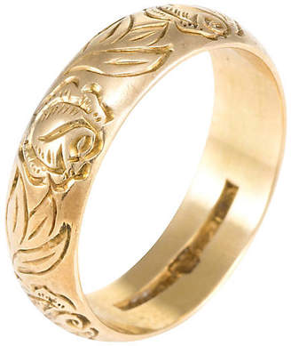 One Kings Lane Vintage 18k Rose & Foliate Swedish Wedding Band