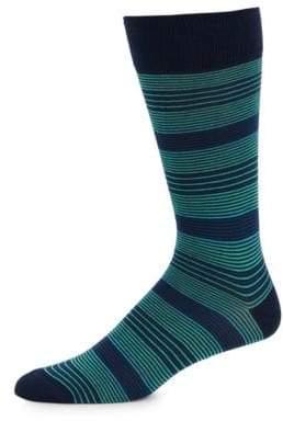 Saks Fifth Avenue Stripe Mid-Calf Socks