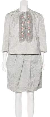 Peter Som Jacquard Skirt Suit w/ Tags