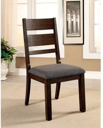 Furniture of America Naila Transitional Ladder-Back Dining Chair, Espresso, 2pk