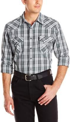 Cinch Men's Modern Fit Long Sleeve Snap Plaid Shirt