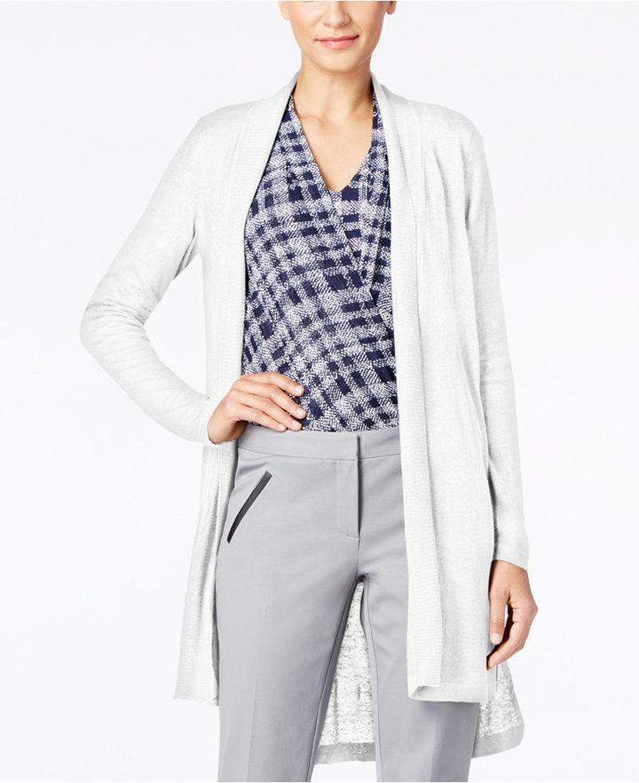 AlfaniAlfani Long Linen Cardigan, Only at Macy's
