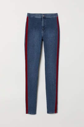 H&M Twill Pants with Side Stripes - Blue