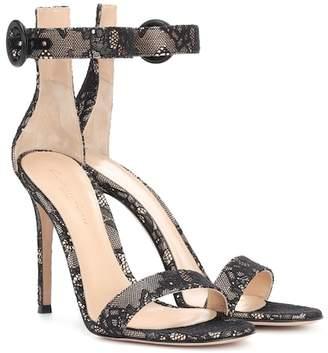 Gianvito Rossi Portofino 105 lace sandals