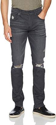 7 For All Mankind Men's Paxtyn Skinny Fit Jean In Portland Gray Destroy