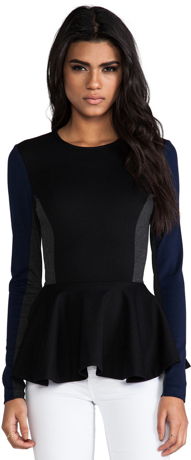 Torn By Ronny Kobo Judy Color Block Ponti Top
