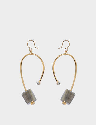 Marni Earrings with Horn in Pale Gold Metal and Horn